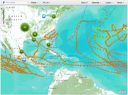 Hurricanes' and Cyclones' trail using GIS.